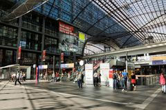 Berlin Hauptbahnhof Royalty Free Stock Photos