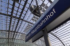 Berlin Hauptbahnhof. Is the main railway station in Berlin, Germany. It is located on the site of the historic Lehrter Bahnhof. Station on Juni 28, 2012 Stock Photography