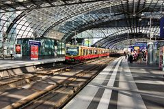 Berlin Hauptbahnhof. Is the main railway station in Berlin, Germany. It is located on the site of the historic Lehrter Bahnhof. Station on Juni 28, 2012 Royalty Free Stock Photography