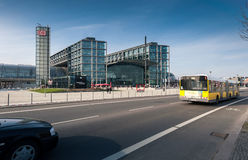 Berlin Hauptbahnhof or Berlin Central Station. Stock Image