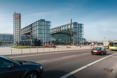 Berlin Hauptbahnhof or Berlin Central Station. Stock Photos