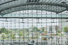 Berlin Hauptbahnhof drevstation Arkivbild