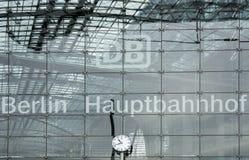 Berlin Hauptbahnhof drevstation Arkivbilder