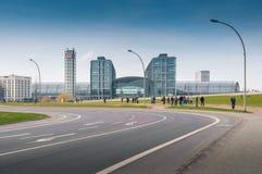 Berlin Hauptbahnhof eller Berlin Central Station Arkivfoto