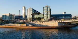 Berlin Hauptbahnhof (huvudsaklig drevstation) Arkivbild