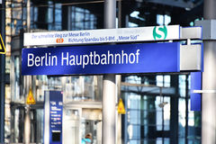 Berlin Hauptbahnhof, the main railway station in Berlin, Germany Stock Images