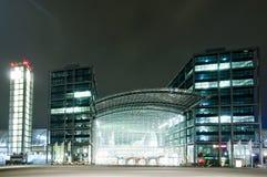 Berlin Hauptbahnhof at night. Hauptbahnhof (main railway station) in Berlin at night Royalty Free Stock Image