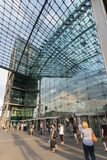 Berlin-hauptbahnhof Nordeingang Deutschland lizenzfreie stockfotos