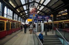 Berlin Hauptbahnhof Railway Central Station en Berlín, Alemania Foto de archivo libre de regalías