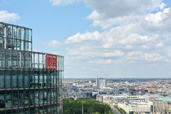 Berlin. Headquarters of Deutsche Bahn at Potsdamer Platz in Berlin royalty free stock photos