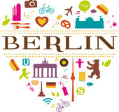 Berlin herz 2 Royalty Free Stock Images