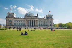 Berlin/historisches errichtendes Reichstag Stockfotos