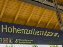 Berlin Hohenzollerndamm S-bahn station royalty free stock photography