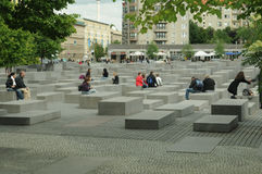 Berlin holocaust memorial Stock Photography