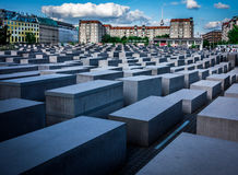 Berlin Holocaust Memorial stock fotografie