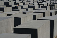Berlin Holocaust Memorial busy daytime. Berlin Holocaust Memorial, busy daytime, autumn 2007 Stock Photos