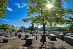 Berlin Holocaust Memorial to murdered Jews Royalty Free Stock Photos