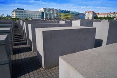 Berlin Holocaust Memorial to murdered Jews. In Germany Royalty Free Stock Photography
