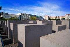Berlin Holocaust Memorial to murdered Jews. In Germany Royalty Free Stock Photos