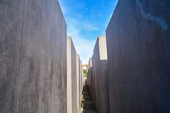 Berlin Holocaust Memorial to murdered Jews. In Germany Stock Image
