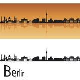 berlin horisont royaltyfri illustrationer