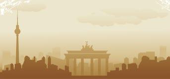 Berlin horisont Vektor Illustrationer