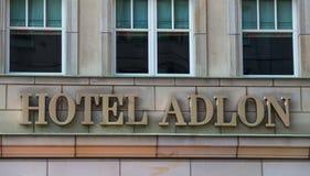 Berlin-Hotel adlon Zeichen Stockfoto