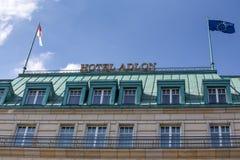 Berlin-Hotel adlon Zeichen Lizenzfreies Stockbild