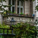 Berlin house balcony facade closeup royalty free stock photo