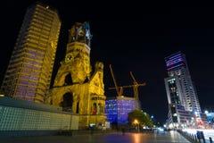 Berlin i natten zoo Arkivbilder
