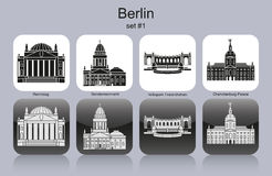 Berlin icons Royalty Free Stock Images