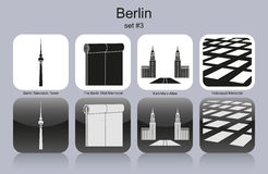 Berlin icons Stock Photo