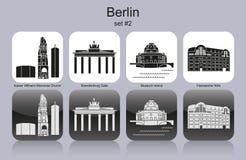 Berlin-Ikonen lizenzfreie abbildung