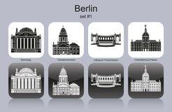 Berlin-Ikonen stock abbildung