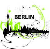 Berlin illustration. Hand-drawn illustration of Berlin city Stock Photos