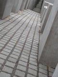 Berlin Jewish Holocaust Memorial Het gedenkteken werd voortgebouwd op 15 December, 2004 Het wordt gevestigd één blokzuiden van de Stock Afbeelding