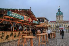 berlin julmarknad germany royaltyfri foto
