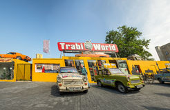 BERLIN - JULY 24, 2016: Berlin trabi world museum close to Check Royalty Free Stock Photo