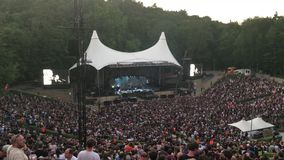 BERLIN - July 5, 2018: Open Air Rock Concert in the sold-out Waldbuehne - Wide Shot stock footage