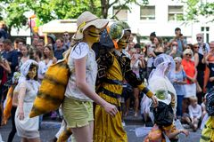 Carnival of Cultures. Berlin. Germany. BERLIN - JUNE 09, 2019: The annual Carnival of Cultures Karneval der Kulturen celebrated around the Pentecost weekend stock photography