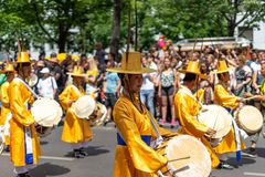 Carnival of Cultures. Berlin. Germany. BERLIN - JUNE 09, 2019: The annual Carnival of Cultures Karneval der Kulturen celebrated around the Pentecost weekend royalty free stock photos