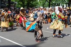 Carnival of Cultures. Berlin. Germany. BERLIN - JUNE 09, 2019: The annual Carnival of Cultures Karneval der Kulturen celebrated around the Pentecost weekend royalty free stock photo