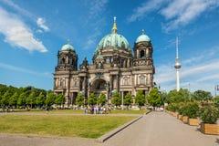 Berlin-Kathedraleoder Bewohner von BerlinDom lizenzfreie stockfotos