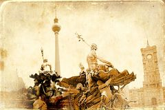 Berlin-Kunstbeschaffenheitsillustration Stockbilder