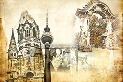 Berlin-Kunstbeschaffenheitsillustration Stockfoto