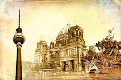 Berlin-Kunstbeschaffenheitsillustration Stockfotos