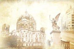 Berlin-Kunstbeschaffenheitsillustration Lizenzfreie Stockfotos