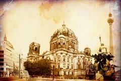 Berlin-Kunstbeschaffenheitsillustration Stockfotografie
