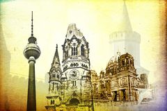 Berlin-Kunstbeschaffenheitsillustration Lizenzfreie Stockfotografie