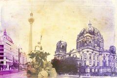 Berlin-Kunstbeschaffenheitsillustration Stockbild